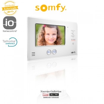Additional Monitor Video Door Entry System V200 Black - 2401250 | Somfy