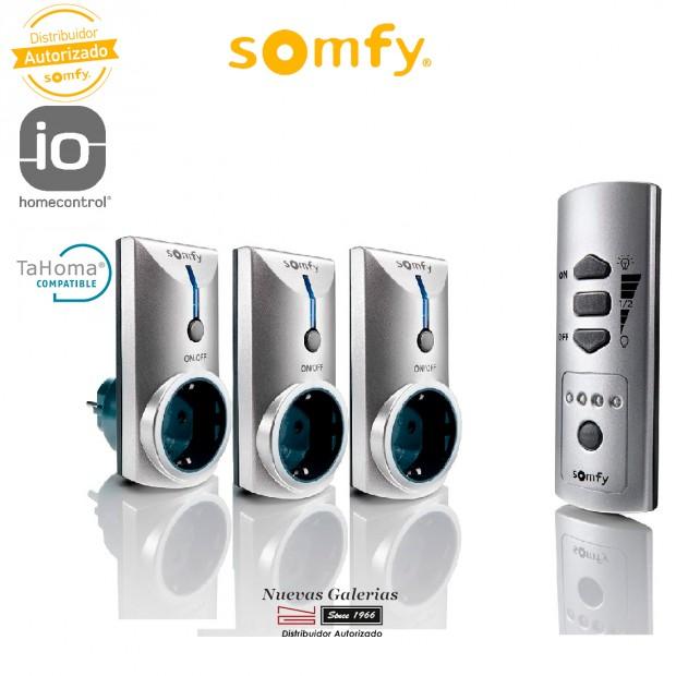 Pack de 3 Enchufes con Mando Remoto - 2401199   Somfy
