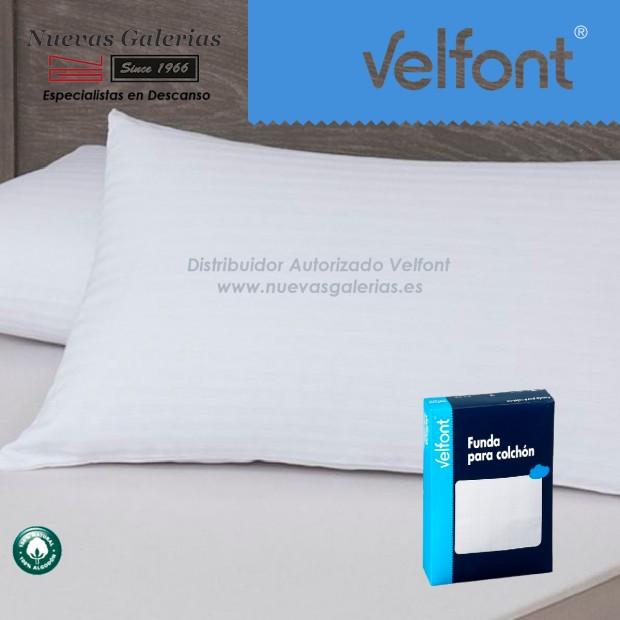 Funda de Almohada Raso Labrado Blanca | Velfont