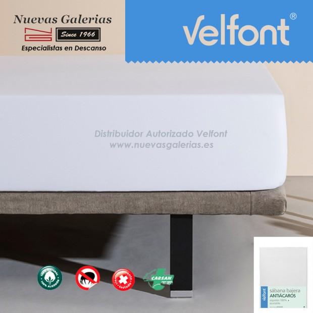 Sábana Bajera Antiácaros Blanca | Velfont