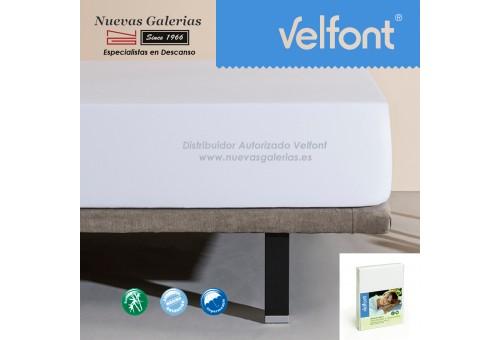 Sábana Bajera Bambú Impermeable Blanca | Velfont