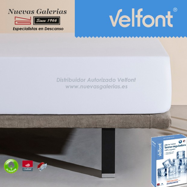Velfont Fitted Sheet   thermoregulator