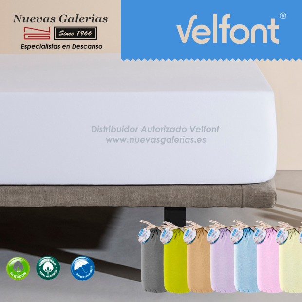 Sábana Bajera Respira Impermeable Blanca | Velfont