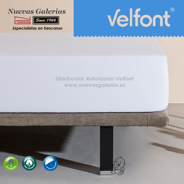Velfont Spannbettlaken | Wasserdichter weiß 60x120