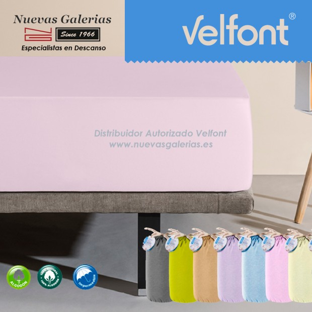 Velfont Fitted Sheet | Waterproof pink