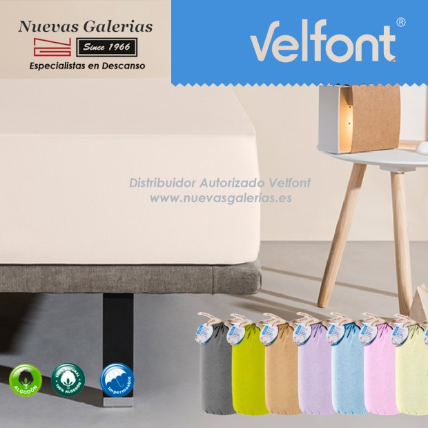 Velfont Spannbettlaken | Wasserdichter Sahne