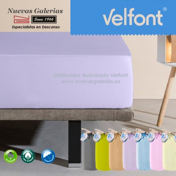 Velfont Spannbettlaken | Wasserdichter Lila