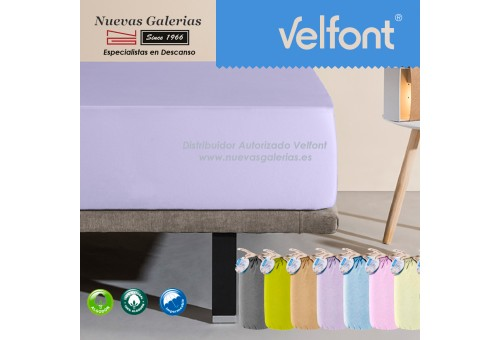 Velfont Fitted Sheet | Waterproof Lilac