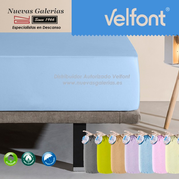 Velfont Fitted Sheet | Waterproof Blue