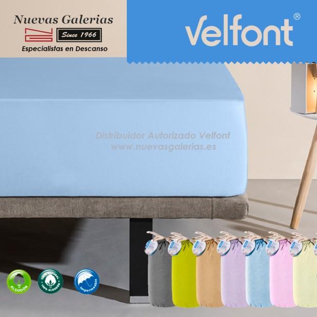 Velfont Spannbettlaken | Wasserdichter Blau