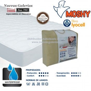 Waterproof & Breathable Terry Cotton mattress protector | Lyocell® Moshy
