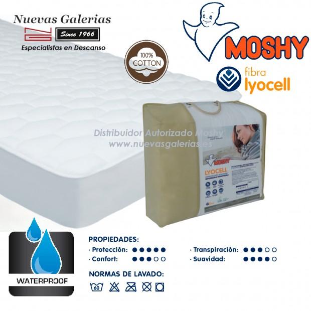 Coprimaterasso in cotone impermeabile e traspirante | Lyocell® Moshy
