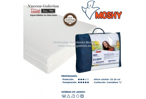 Irati fully enclosed mattress cover | Moshy