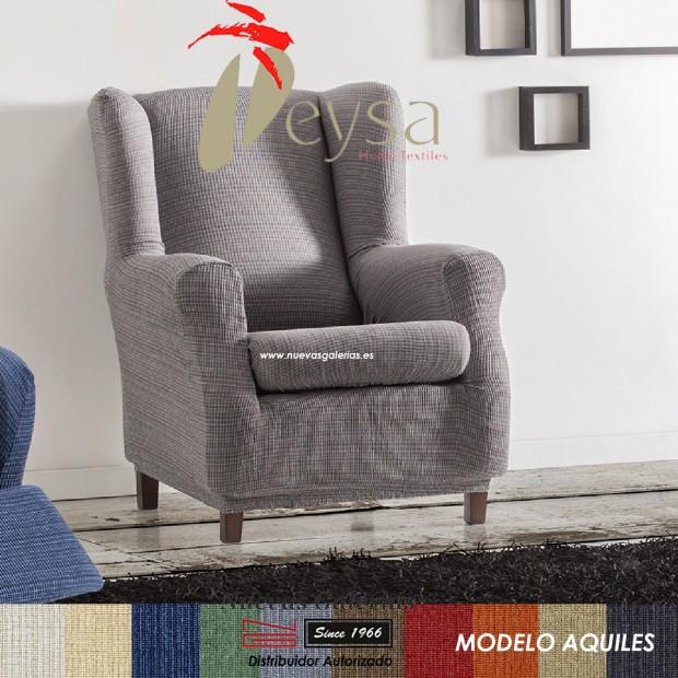 Eysa Elastic Wing Chair Sofa Cover   Aquiles