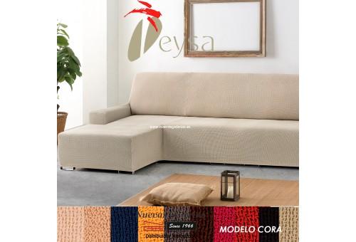 Eysa Bielastische Schoner für Sofa mit Ottomane | Cora