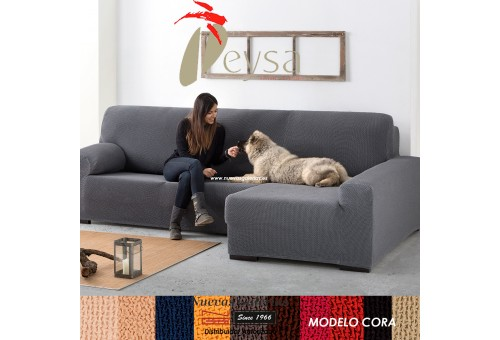 Eysa Bielastic sofa cover Chaise Longue| Cora