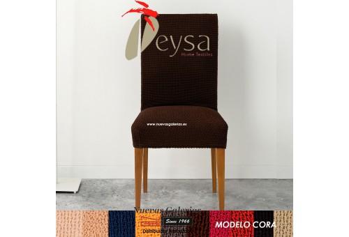 Eysa Strechhusse für Stühle ohne Rückenlehne - Zweier Set | Cora