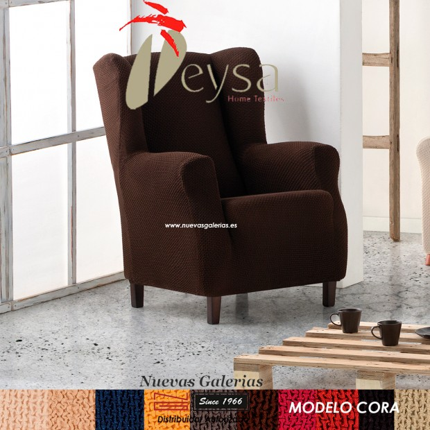 Eysa Elastic Wing Chair Sofa Cover | Cora