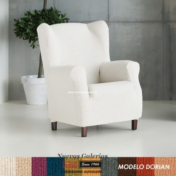 Eysa Elastic Wing Chair Sofa Cover | Dorian
