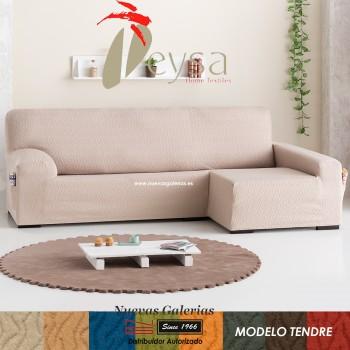 Eysa Bielastische Schoner für Sofa mit Ottomane | Tendre