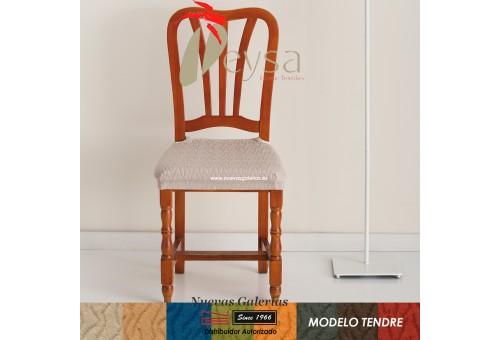 Eysa Strechhusse für Stühle ohne Rückenlehne - Zweier Set | Tendre