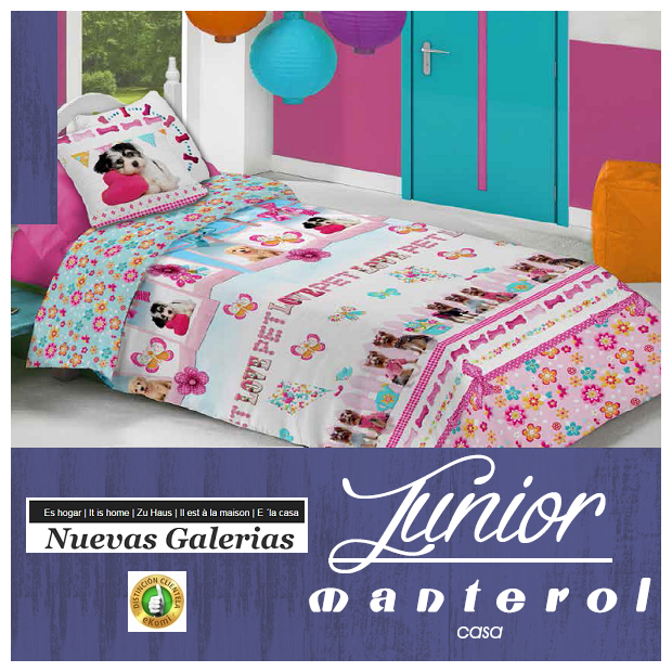 Manterol Housse de Couette Enfant Manterol | Junior 583 - 1 Funda Nordica Manterol | Junior 583 - Juego de Funda Nórdica con mot