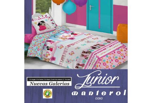 Manterol Housse de Couette Enfant Manterol | Junior 583 - 1 Funda Nordica Manterol | Junior 583 -Juego de Funda Nórdica con mot