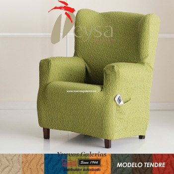 Eysa Elastic Wing Chair Sofa Cover | Tendre