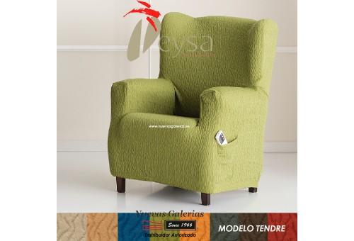Eysa Elastic Wing Chair Sofa Cover | Tendre