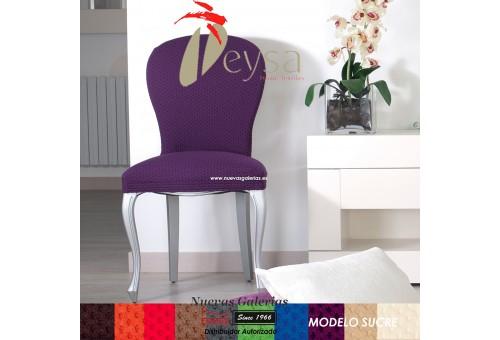 Eysa Strechhusse für Stühle ohne Rückenlehne - Zweier Set | Sucre