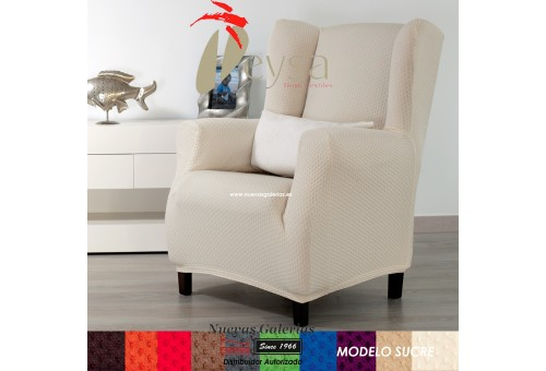 Eysa Elastic Wing Chair Sofa Cover | Sucre