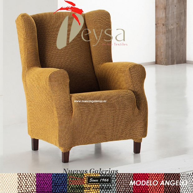 Eysa elastisch sofa überwurf ohrensessel | Angelo
