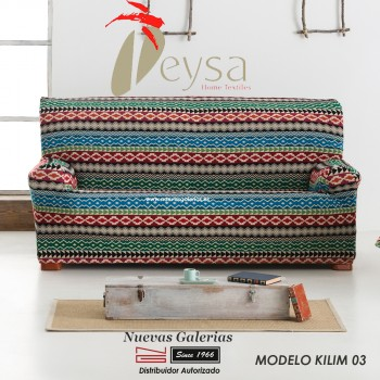 Eysa Elastic sofa cover | Graffiti Kilim 03