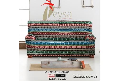 Eysa Elastic sofa cover | Graffiti Kilim 03