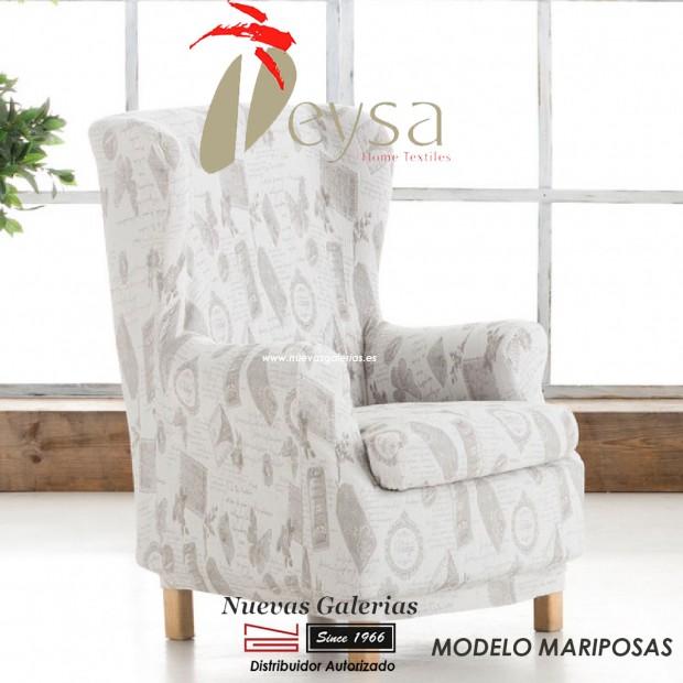 Eysa Elastic Wing Chair Sofa Cover   Graffiti Mariposas