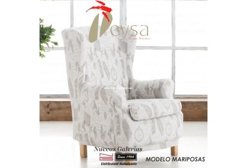 Eysa Elastic Wing Chair Sofa Cover | Graffiti Mariposas