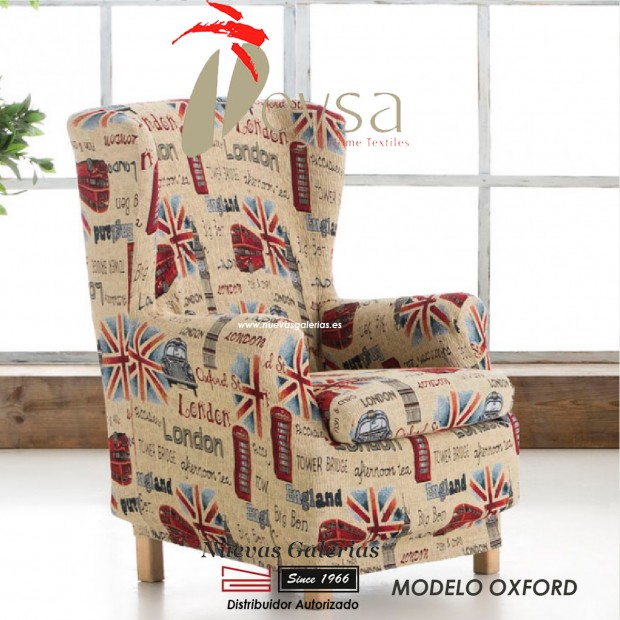 Eysa Elastic Wing Chair Sofa Cover | Graffiti Oxford
