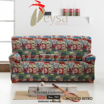 Eysa Elastic sofa cover | Graffiti Retro