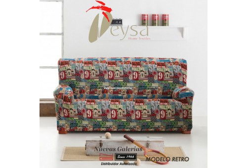 Funda Sofa Elástica Eysa | Graffiti Retro