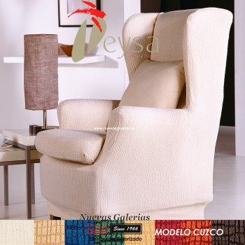 Eysa Elastic Wing Chair Sofa Cover | Cuzco