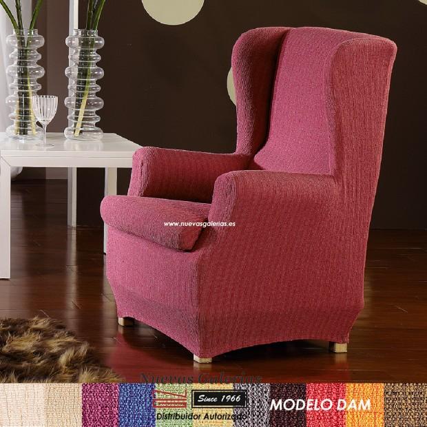 Eysa Elastic Wing Chair Sofa Cover   Dam
