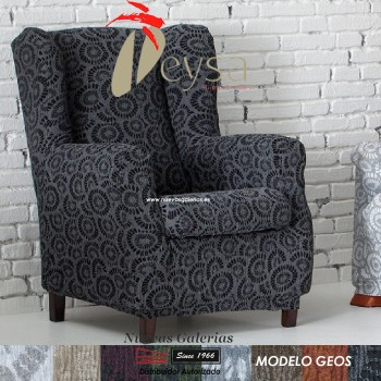 Eysa Elastic Wing Chair Sofa Cover | Geos