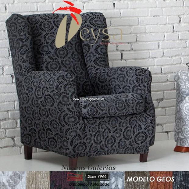 Eysa Elastic Wing Chair Sofa Cover   Geos