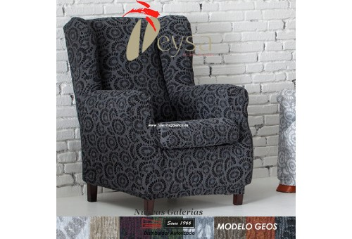 Eysa Elastic Wing Chair Sofa Cover | Geos