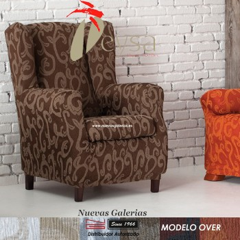 Eysa Elastic Wing Chair Sofa Cover | Over