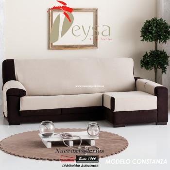 Eysa Practica Schoner für Sofa mit Ottomane   Constanza