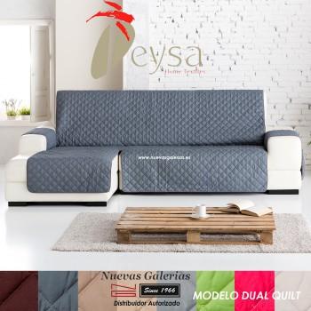 Eysa Practica Schoner für Sofa mit Ottomane | Dual Steppdecken