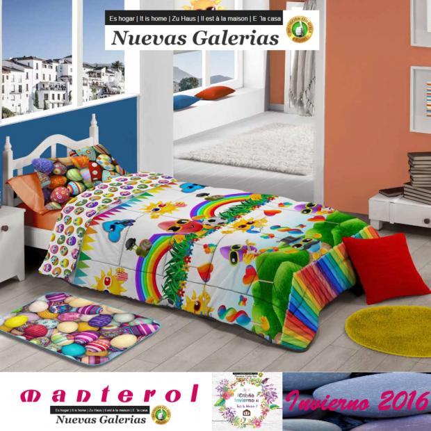 Manterol Kinder-Steppdecken Manterol   589 - 1 Kinderbettdecke Manterol   589 Steppdecke mit Kindermotiven, ideal für die Kleine