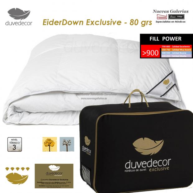 Duvedecor Couette naturelle 100% Duvet D'Eider canard 900 CUIN | Duvedecor - 1 Edredón nórdico Eiderdown, gama EXCLUSIVE de duve