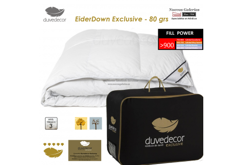 Couette naturelle 100% Duvet D'Eider canard 900 CUIN | Duvedecor